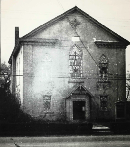 An old photograph of our church building.